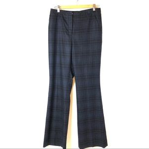 AKRIS High Waisted Tartan Trouser